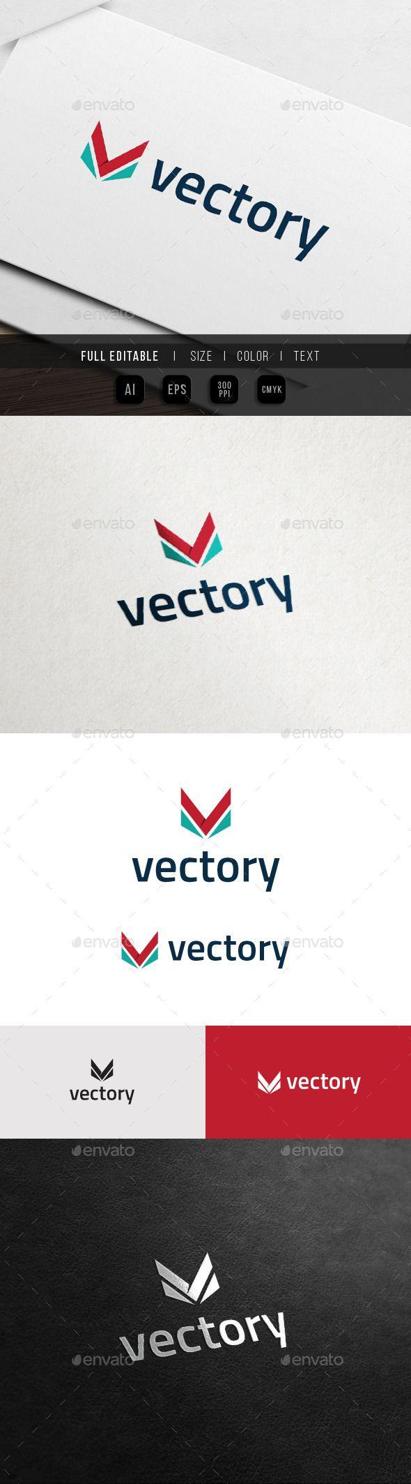 Vector Victory Vision Army Letter V Logo K logos