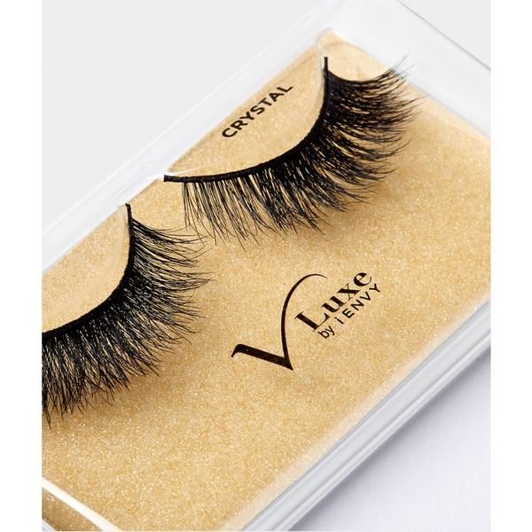 e93e074a448 V-LUXE I ENVY - VLEF02 CRYSTAL - MINK LASH INSPIRED 100% VIRGIN REMY  TAPERED END STRIP EYELASHES BY KISS