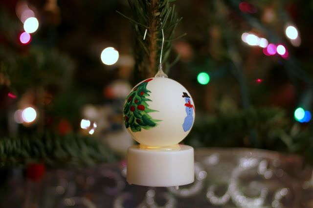 Image result for Christmas ping pong tea light