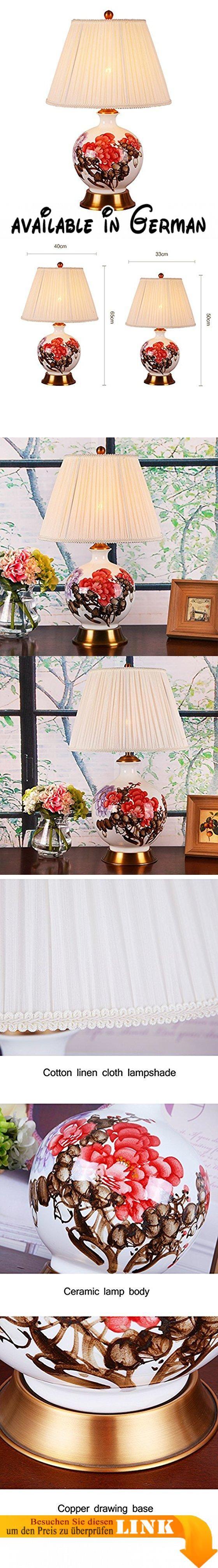 Manuels vintage zimmer zwl keramik tischlampe handbemalt keramik tischlampe schlafzimmer