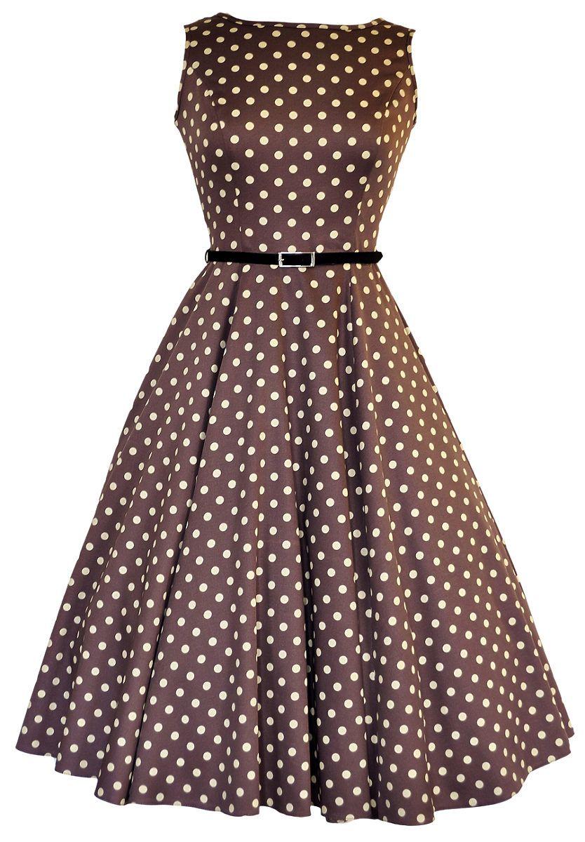 a1951ac4c801 Béžové šaty s puntíky Lady V London Audrey