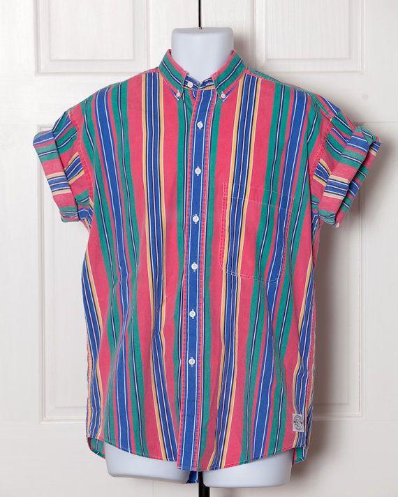 90s Men's Half Sleeve Button Down Shirt - GANT SALTY DOG
