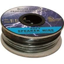 50ft 18 Gauge 4 Wire Speaker Cable, Paper Spool, Cl2 Ul - Black by ...