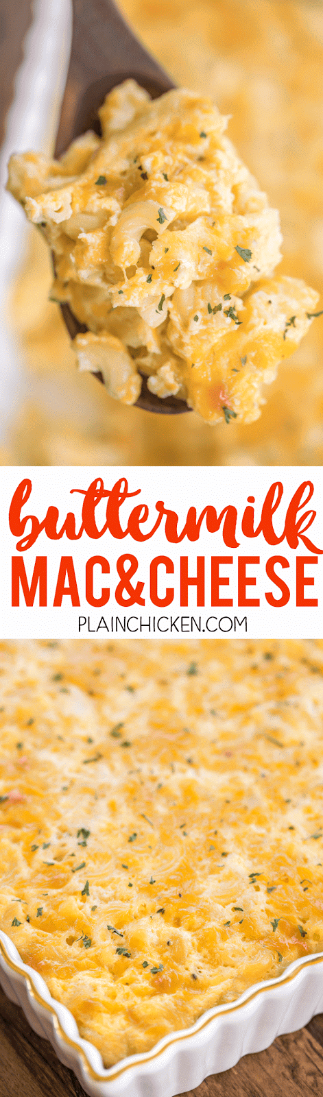Buttermilk Mac And Cheese Crazy Good Only 5 Ingredients I Wasn T Sure How I Would Like The Buttermilk But It Was So Good Recipes Buttermilk Recipes Food
