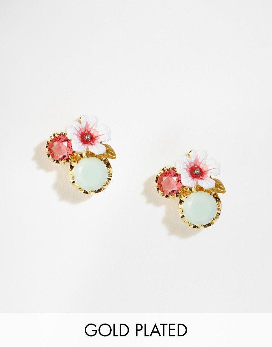 Image 1 Of Les Nereides Fl Jewel Stud Earrings