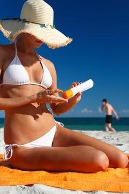 Perfect beach bronzed tan