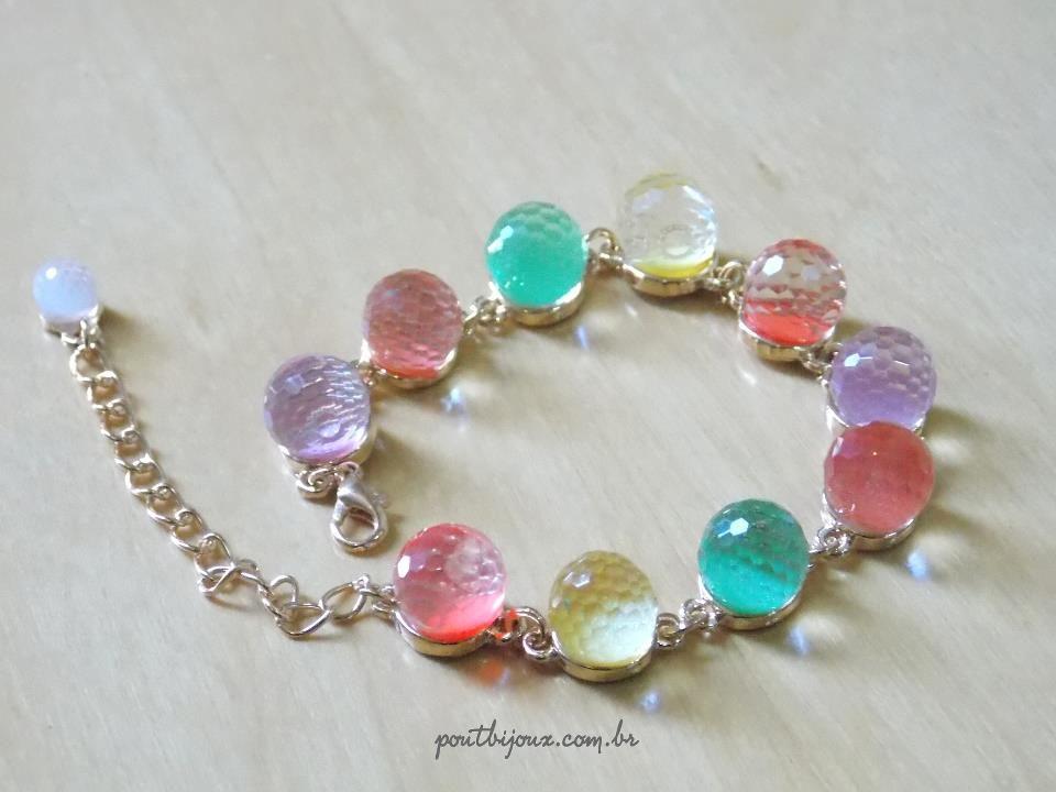 pulseira candy colors