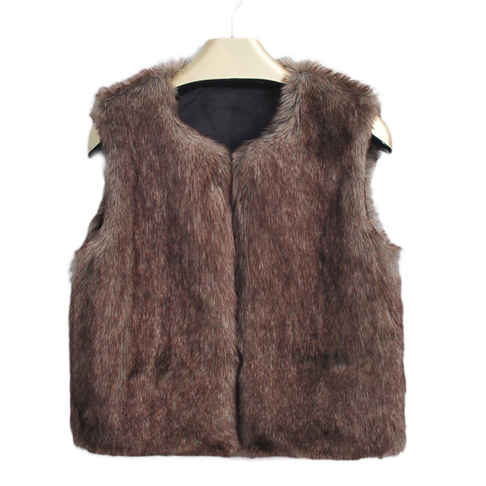 8edd84680 LianLe Unisex Children s Vest Fashion Faux Fur Sleeveless Warm ...