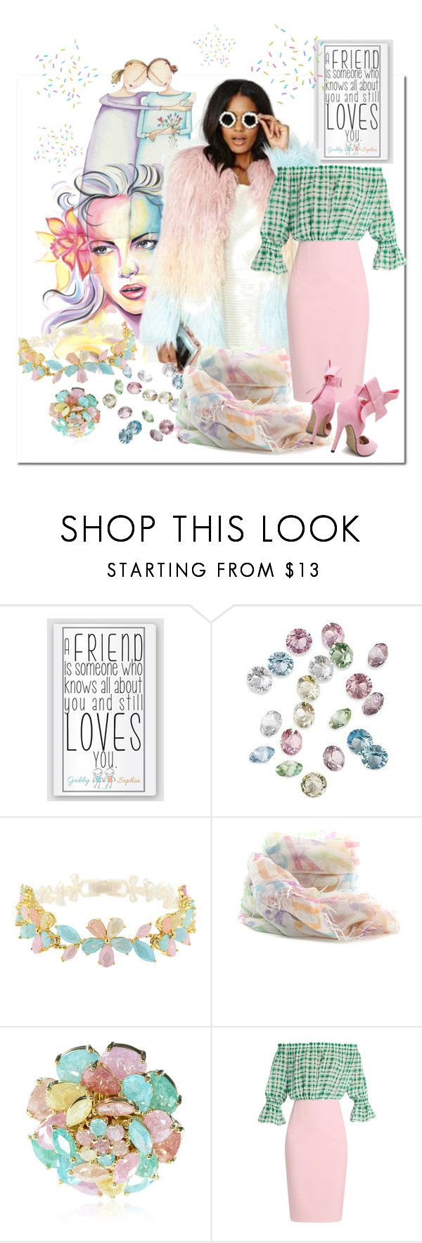 """""""💙Best Friends💖"""" by tmcintyre ❤ liked on Polyvore featuring Target, Cielle London, Faliero Sarti, Emilio De La Morena and topnotch"""