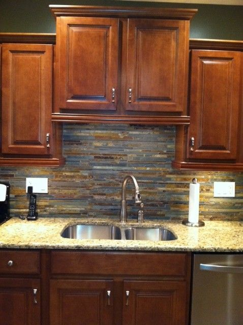 Slate kitchen backsplash ideas complete new kitchen for Complete new kitchen