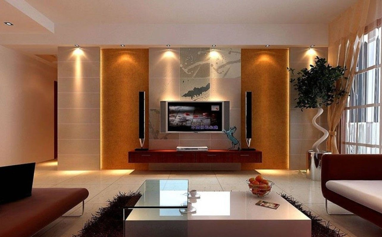 Tv unit design for small living room india living room for Small living room units