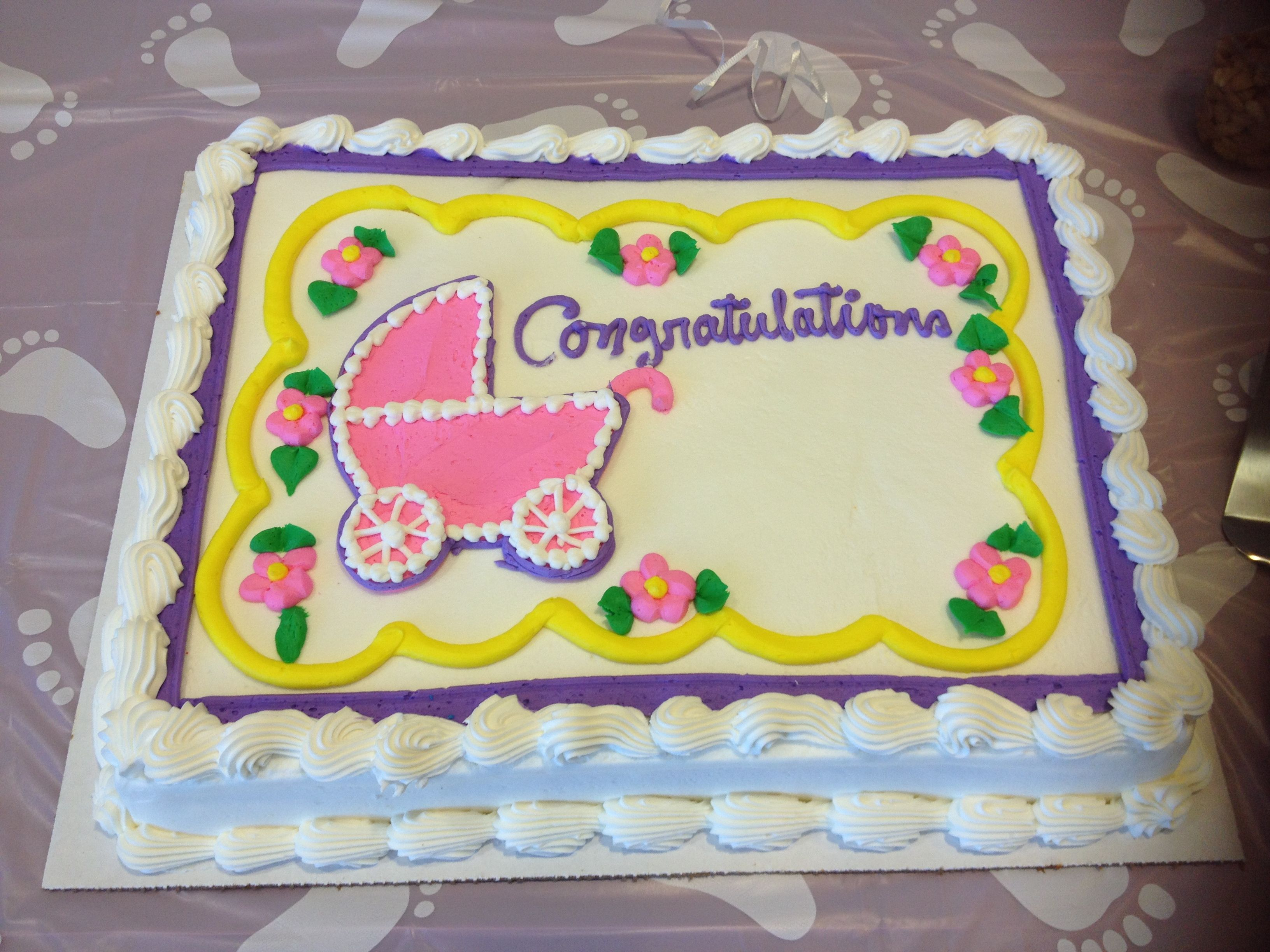 Superior Baby Shower Congratulations Cake  Costco