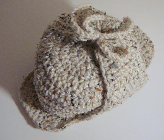Deerstalker Sherlock Holmes Hat PDF Crochet Pattern - Newborn to ... 471e89e3f500
