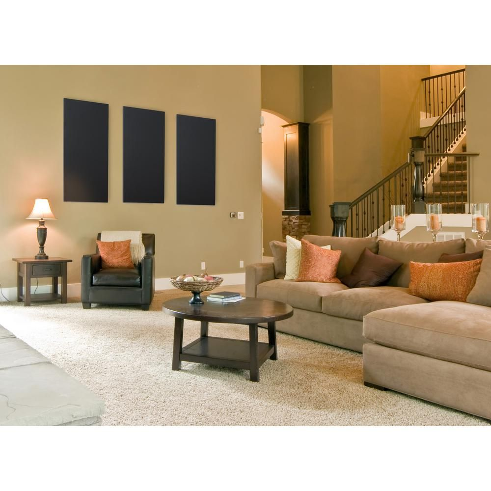 Home Depot Design Ideas: Owens Corning Grey Fabric Rectangle 24 In. X 48 In. Sound