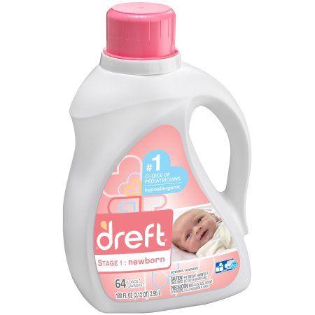 Dreft Stage 1: Newborn Liquid Laundry Detergent 100 fl. oz. Plastic Jug