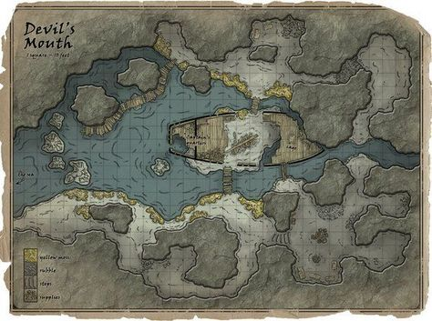 rpg settings. Devil's mouth pirate hideaway