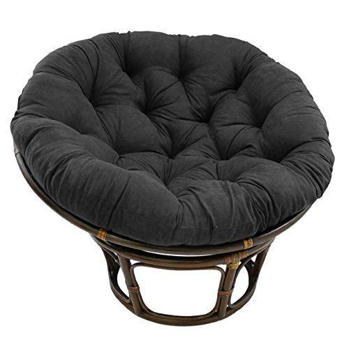 Blazing Needles Solid Microsuede Papasan Chair Cushion 5