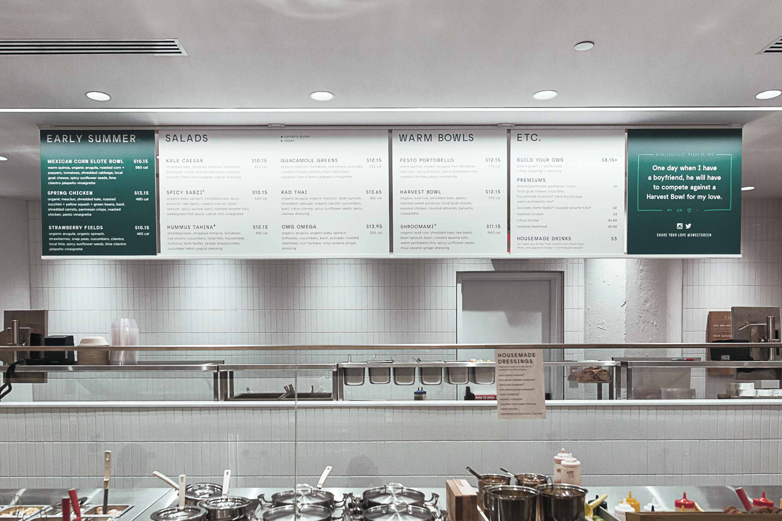 Grandarmy Sweetgreen Celebrating Real Food Restaurant Interior Design Menu Board Design Restaurant Interior