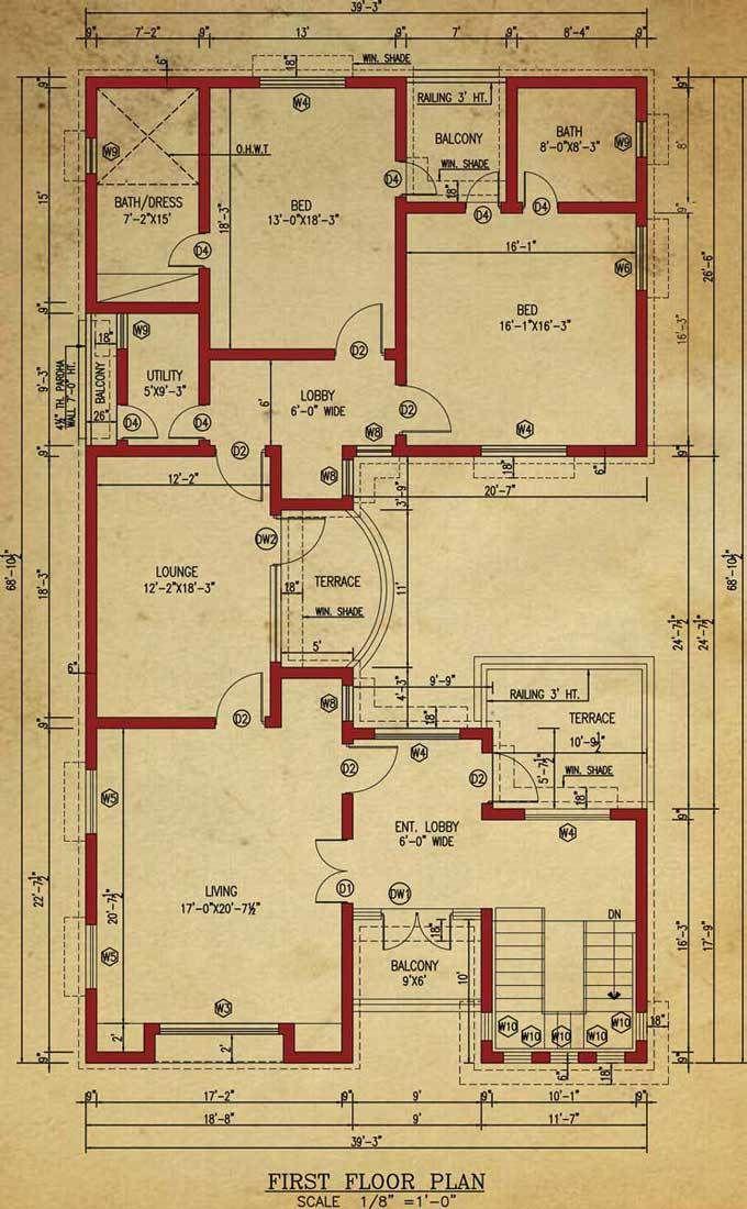House Floor Plan 1 Kanal House Basement House Plans House Floor Plans House Plans One Story