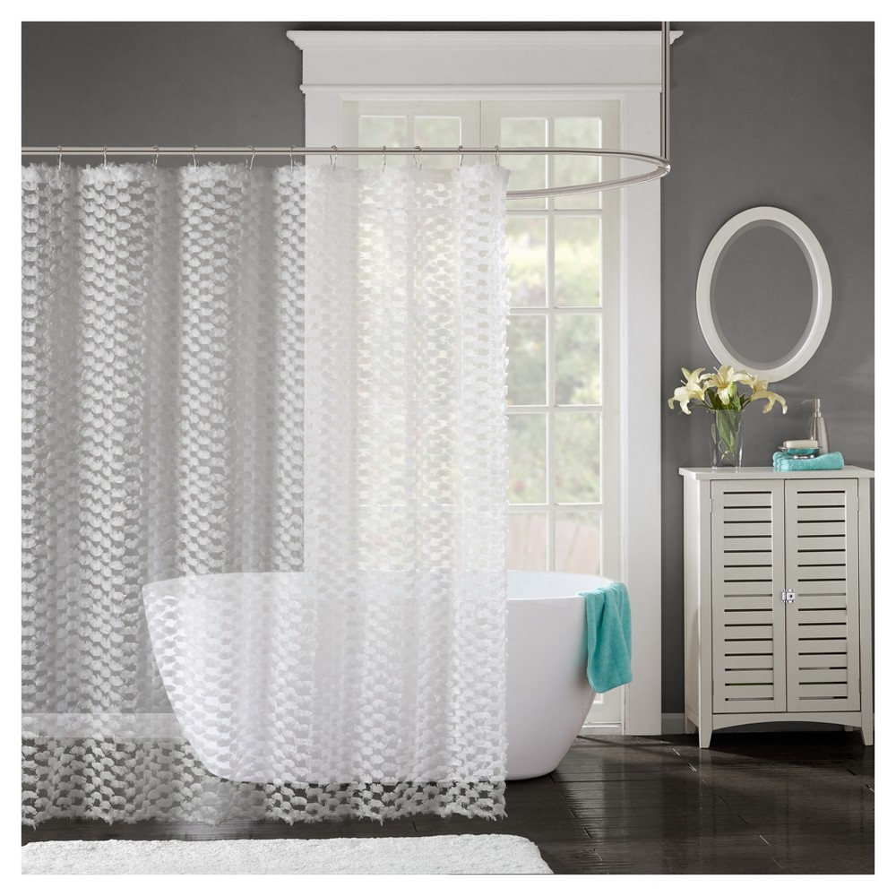 Shower curtain solid white products pinterest products