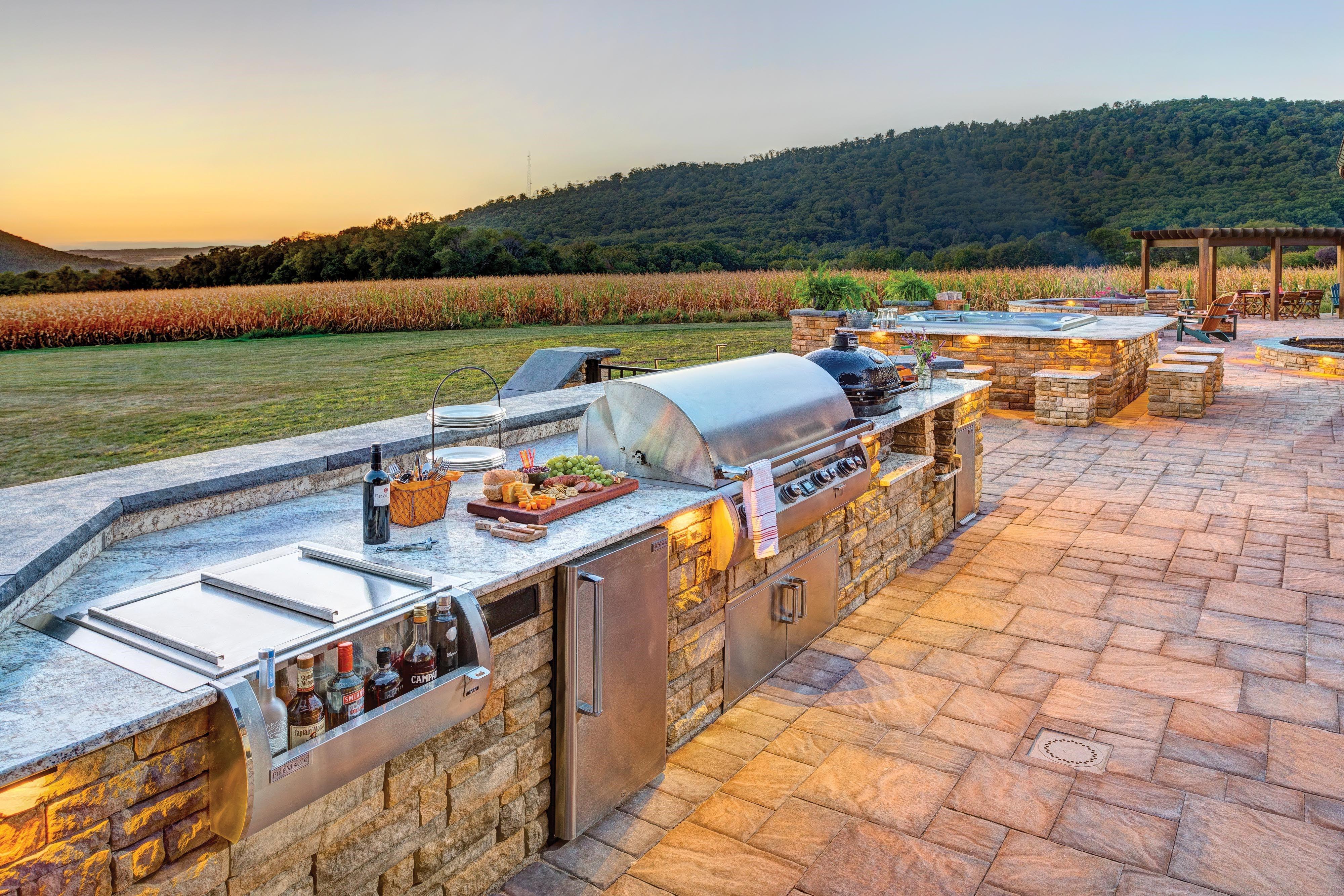 Eldorado Outdoor Kitchen Ep Henry Patio Pavers Outdoorkitchen Outdoor Kitchens