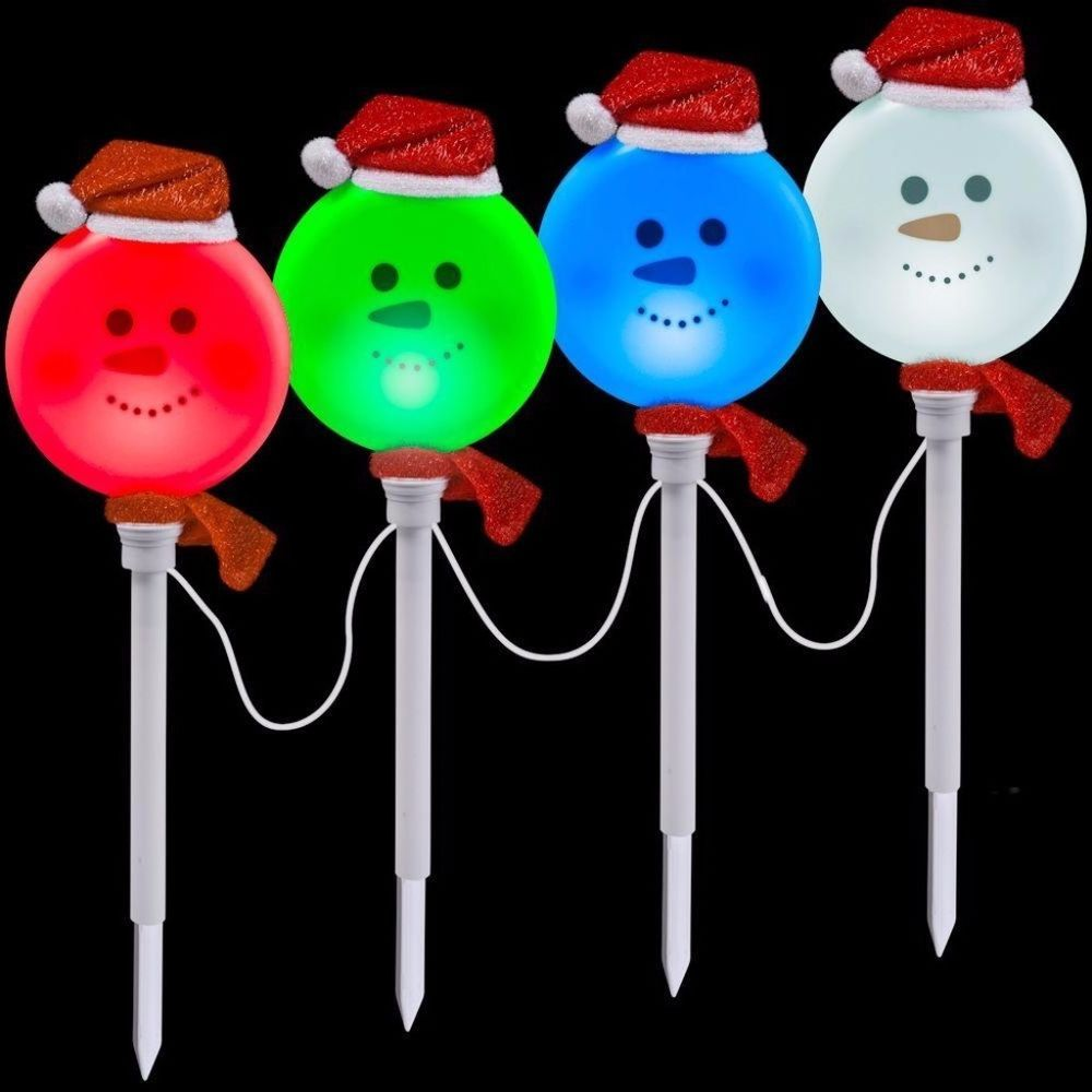 Color Changing Light Effects Snowman Pathway Stake ...