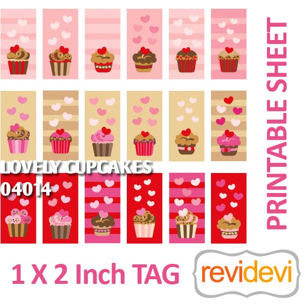 Lovely Cupcakes X Inch Tag Printable Printable Templates - Cupcake name tag template