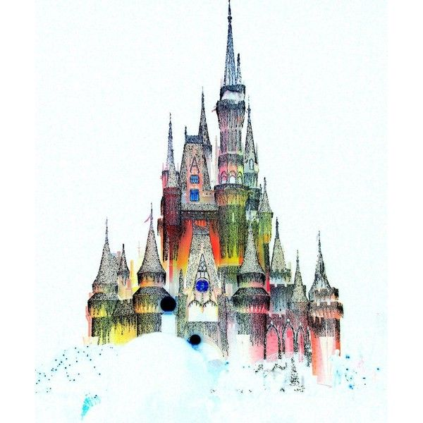 disney castle cartoon liked on polyvore featuring fillers