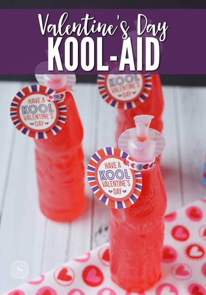 Every Kid Loves The Sweet And Tasty Kool Aid Juices These Valentine 39 S Day Gifts Are Great For Valentines For Kids Valentine S Day Drinks Valentines Snacks