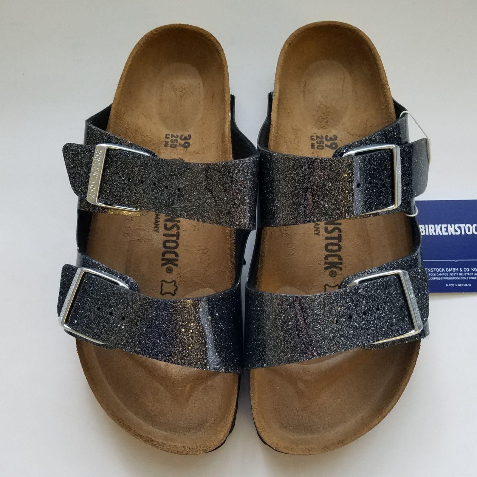 New Birkenstock Arizona Cosmic Sparkle Anthracite Sandals Size 39 Narrow Birkenstock Birkenstock Arizona Birkenstock Sandals