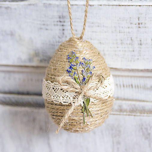 Natur vintage Easter decor, lavender egg  http://www.sashe.sk/Pipistrela/detail/velkonocne-vajicko-s-levandulou