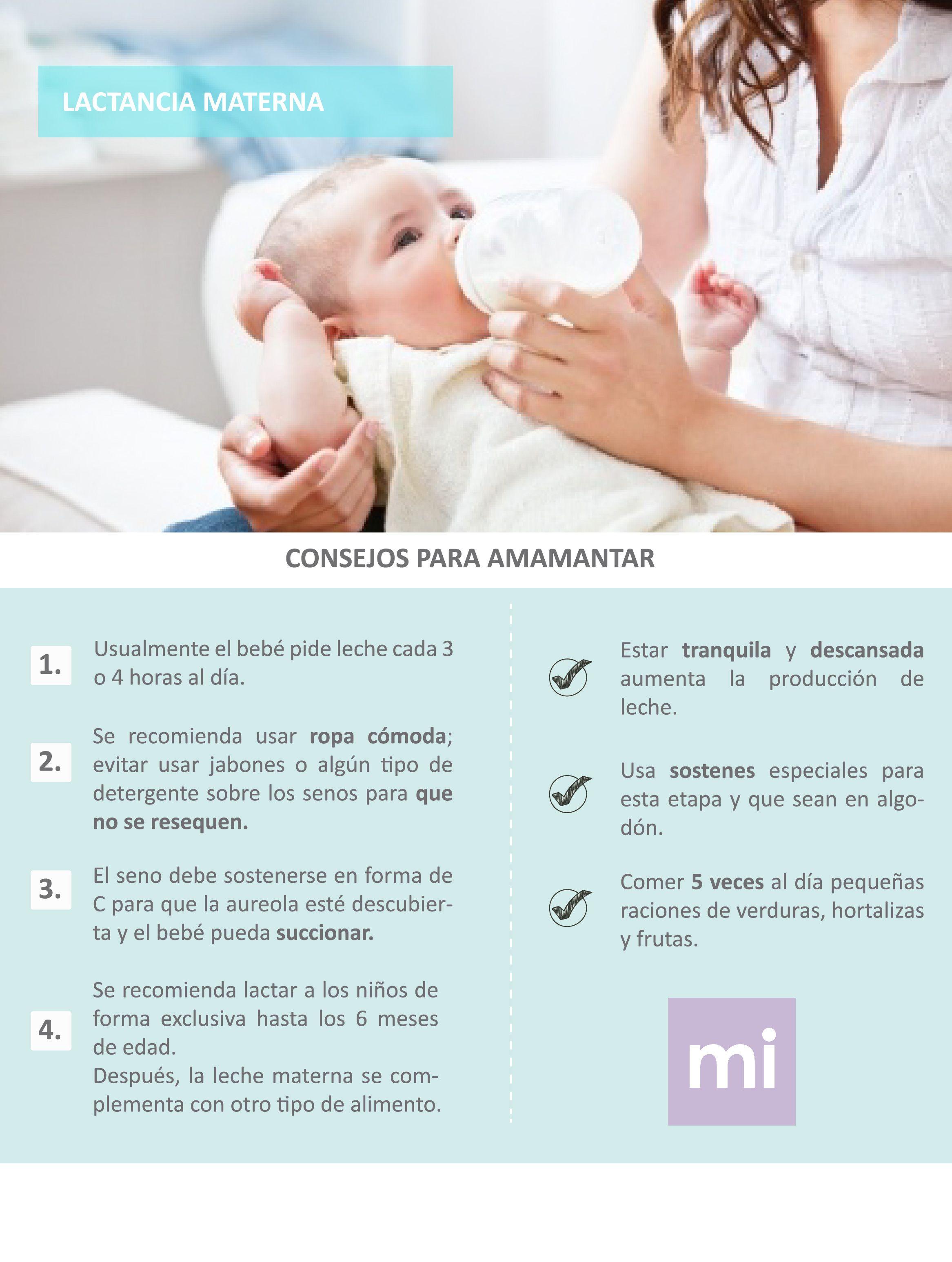 consejos para aumentar la lactancia materna