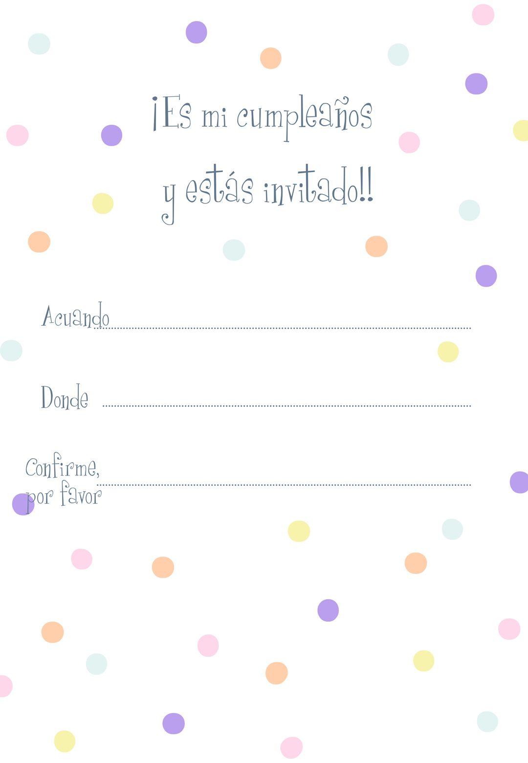 Invitaciones De Invitación De Cumpleaños A Lunares Para