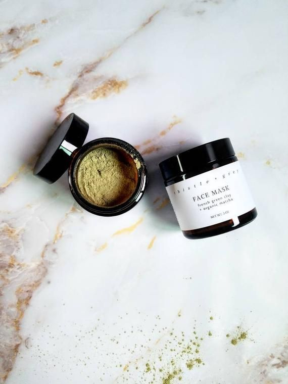 Photo of French Green Clay  Organic Matcha Face Mask green tea face | Etsy