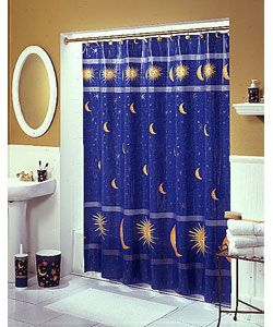 Sun Moon And Stars Bathroom Accessories With Images Shower Curtains Walmart Fabric Shower Curtains Shower Curtain