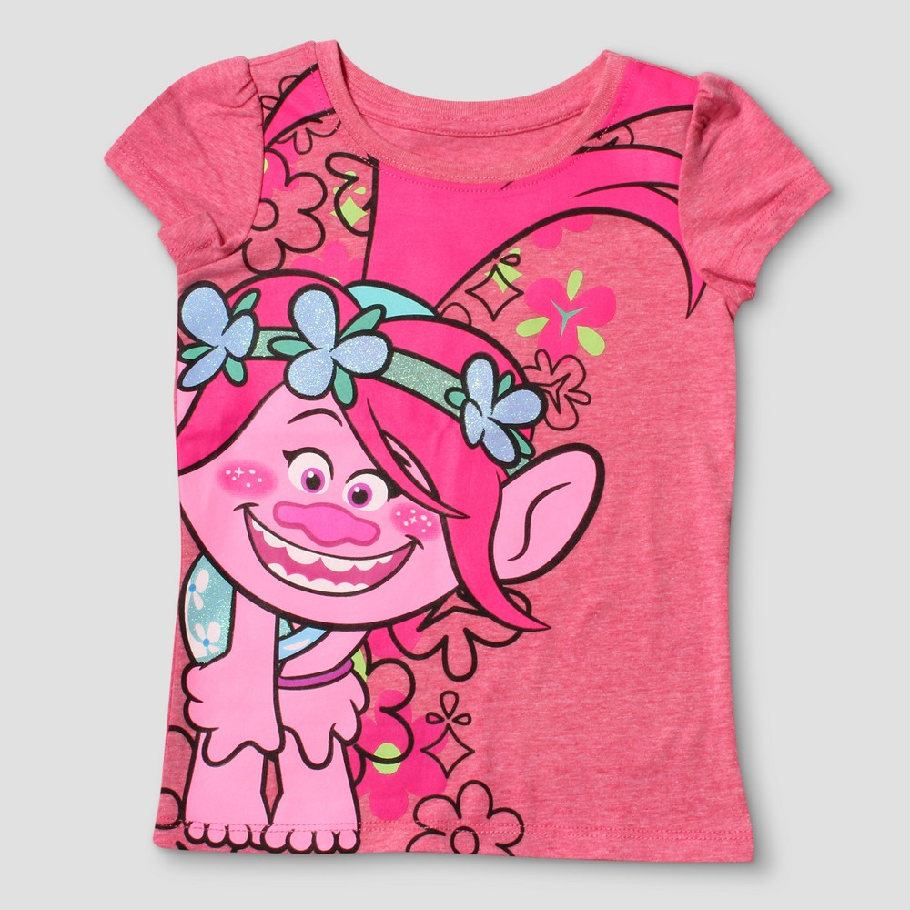 Trolls Girls Poppy Long Sleeve Top
