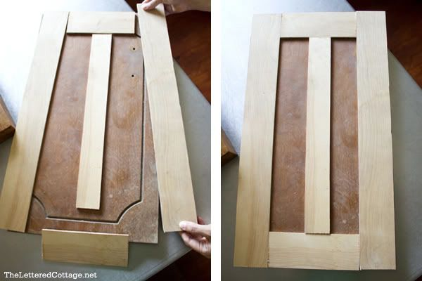 Turning plain old kitchen cabinet doors into updated shaker ...