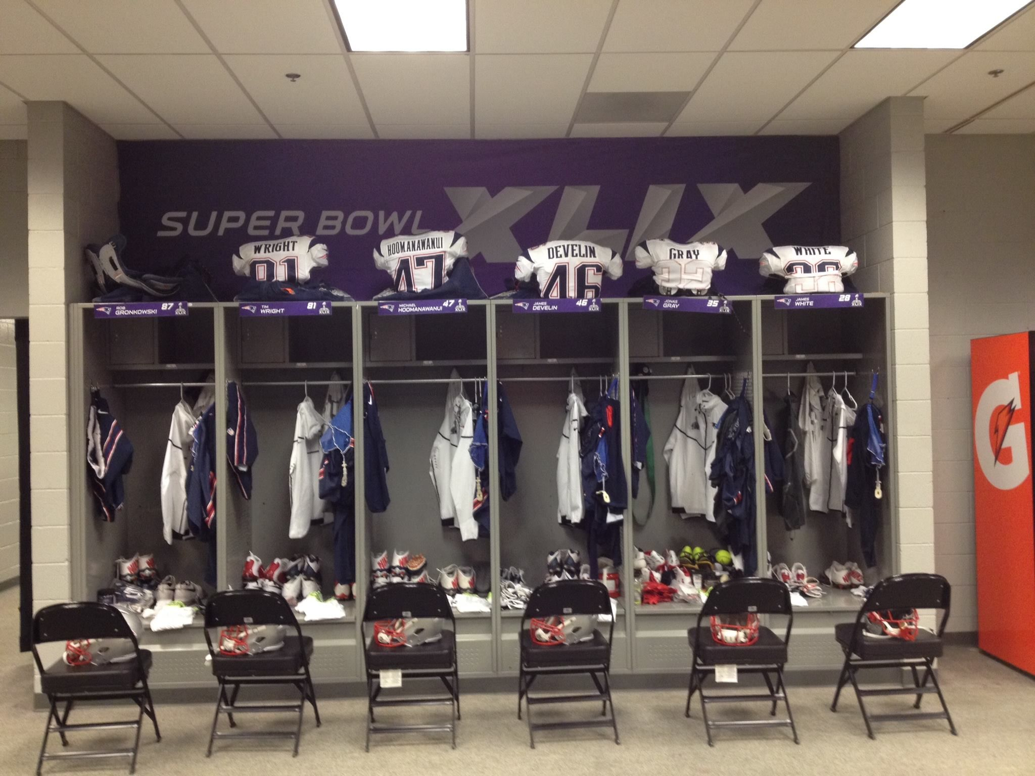 Super Bowl Locker Room Super Bowl Super Bowl Xlix New England Patriots