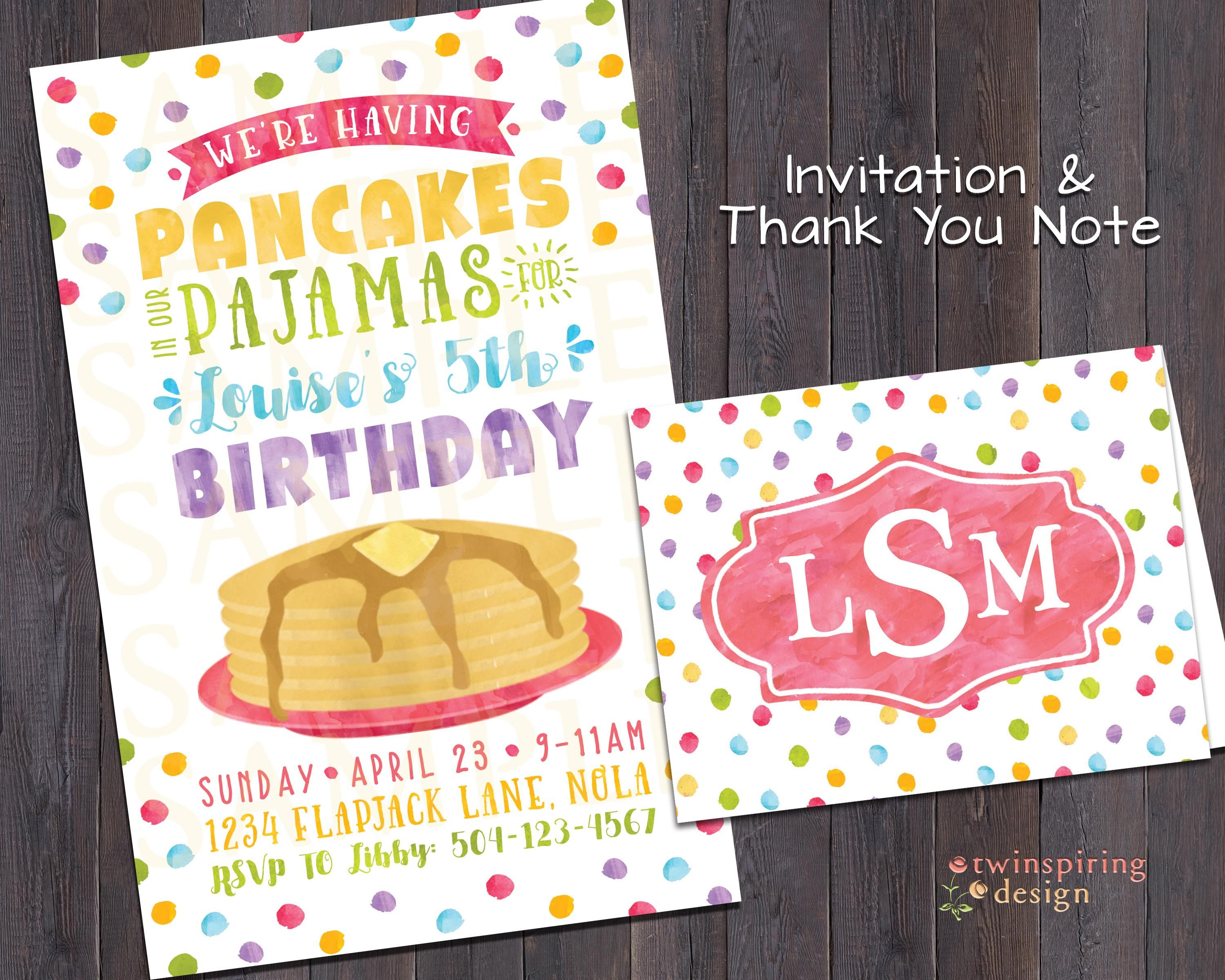 Such a cute theme for a morning birthday party pancake pajama such a cute theme for a morning birthday party pancake pajama birthday party invitation stopboris Images