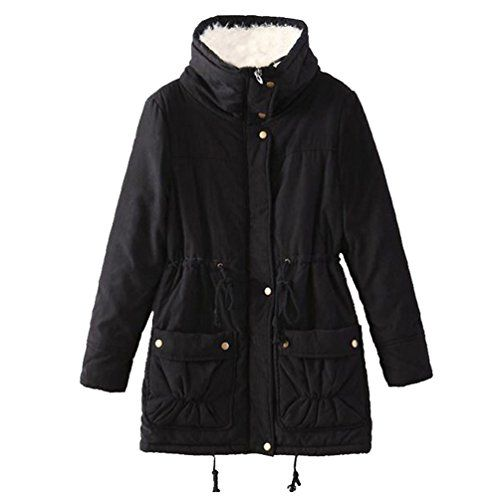 Women Parkas Coats Outwear Jacket Thick Fleece casacos de