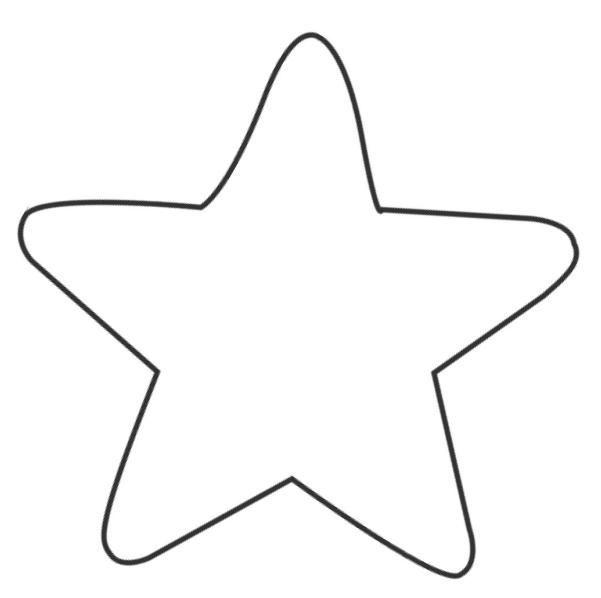18 Moldes estrellas para colorear