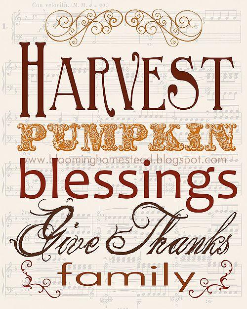 Thanksgiving Printables