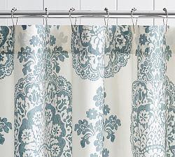 Fabric Shower Curtains Shower Curtain Hooks Pottery Barn