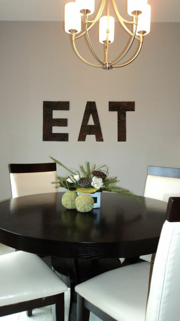Dining room art rustic letters