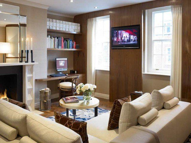 Small living room decoration with formal style - for brown side of ...