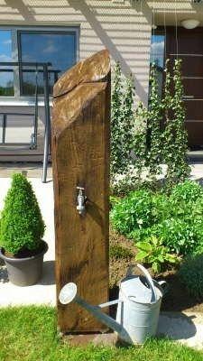 Gartenwasserhahn Wassersäule Brunnen Gartenteich Diy Garden