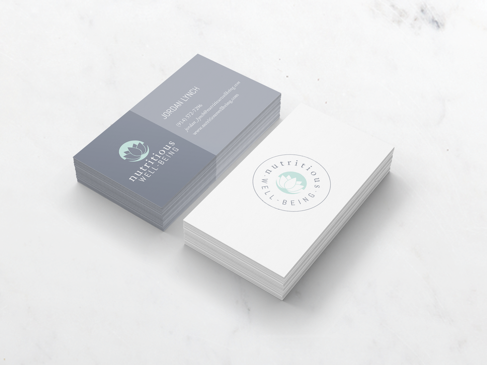 Nutritious Well-Being Business Card Design © Creative Tide Design ...