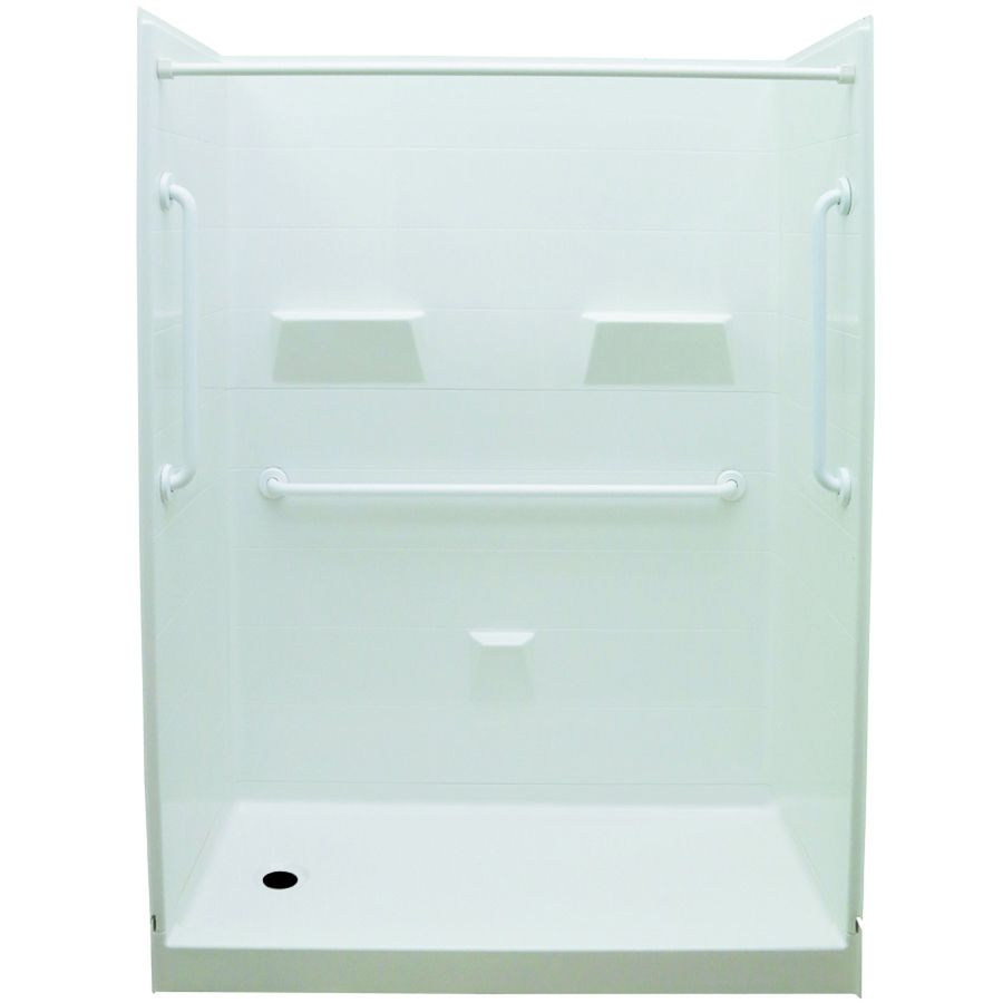 Laurel Mountain Jackson White 5 Piece Alcove Shower Kit Common 32 In X 60 In Actual 31 In X 60 In Alcove Shower Kits Shower Kits Laurel Mountain