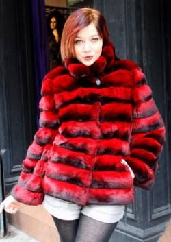 thumb_Dyed Red Chinchilla Jacket (2) | MARC KAUFMAN FURS | The Red ...