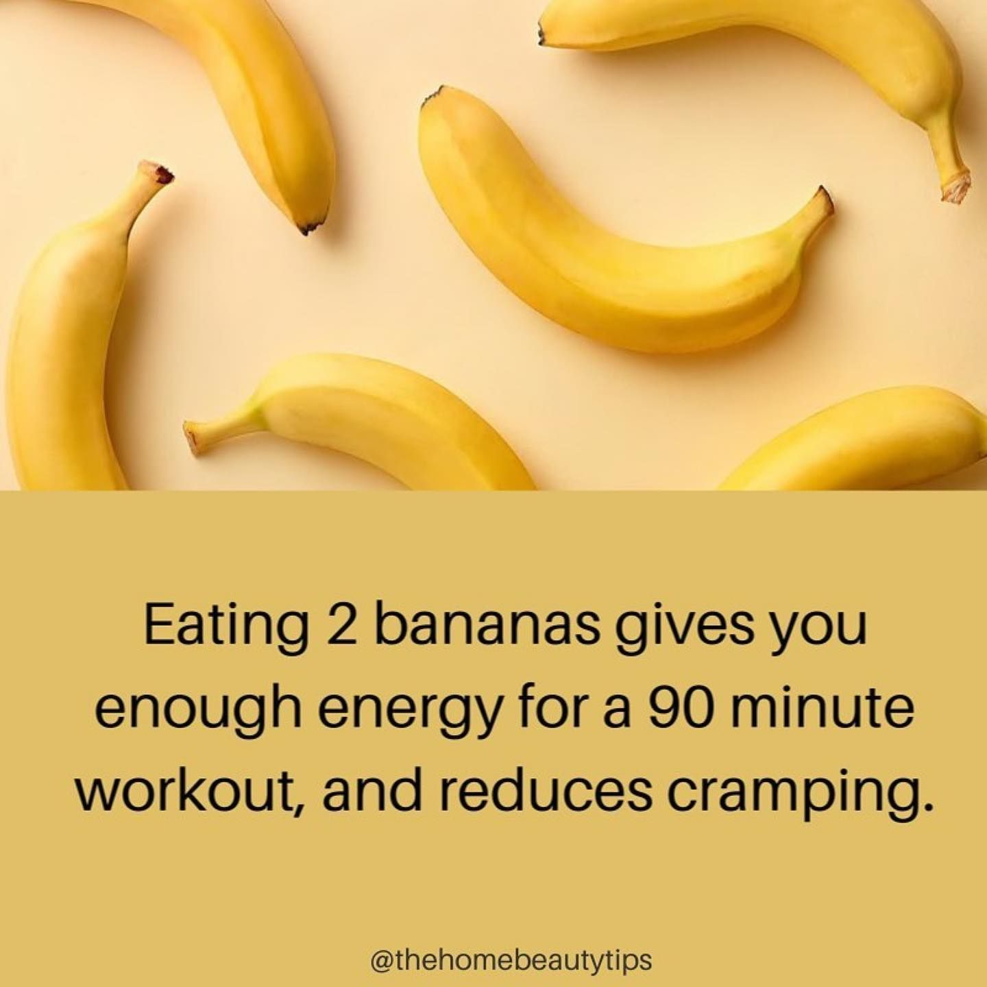 Eating 11 bananas gives you enough energy for a 11 minute workout